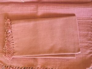 6 India cotton placemats and napkins