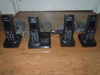 Panasonic Quad 4 Telephones with Answer Machine