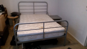 BED SET: DOUBLE MATTRESS. BED FRAME