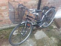 Dawes ladies' bike with rear carrier and a basket