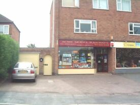 Retail Shop + Residential 3 Bed Maisonette above. 48 Highgate Road, Sileby, LE12 7PP