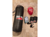 Boxing Heavy Bag + Gloves + Wraps + Pads