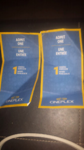 2 admit one passes for cineplex $20