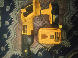 18V Dewalt cordless sawzall with battery & charger