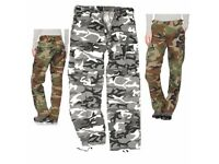Mil-Tec Ladies Army Washed Woodland Urban Trousers