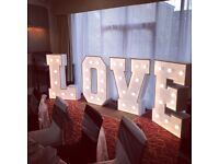 Giant light up marquee LOVE only £70 for limited time only.