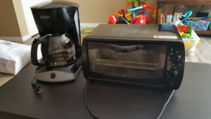 12 cup coffee maker and toaster over great condition