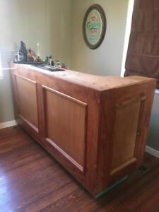 Cherry Wood Bar $200.00 obo Needs to go!