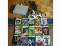 Xbox 360 console, 2 controllers and 15 games