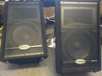 P.A System, Samson Resound HD10 speakers and amp
