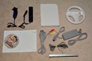 Nintendo Wii Console with Hookups, Controller + Nunchuck, Game