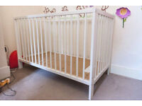 IKEA COT BED WHITE
