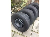 "VW T5 T6 16"" wheels and tyres"