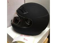 Motorbike Helmet Viper 3GO Motorcycle Helmet Matte Black Clear Lens Brand New Never Worn 59cm/60cm