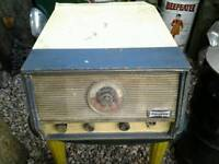 Vintage dansette radio gram record player untested loft find