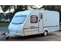 2005/06 SPRITE MUSKETEER, 4 BERTH - FIXED BUNKS & FULL SIZE AWNING - LIGHT WEIGHT - EXTRAS!