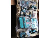 new makita 18v 6 pc combo kit +2 batteries 5,0ah+double charger+bag