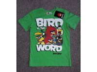 New with tags Angry Birds T-shirt size 122-128