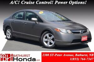 2007 Honda Civic Sedan LX LOW PRICE! A/C! Cruise Control! Power
