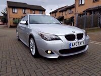 2007 BMW 520D M SPORT MANUAL 6 SPEED FULL SERVICE HISTORY LONG MOT PERFECT CONDITION