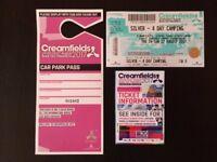 Creamfields Festival 2017 Ticket 4 Day Silver & Car Parking