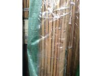 4m rolls of 1.8m high bamboo slat screening fencing £10 each