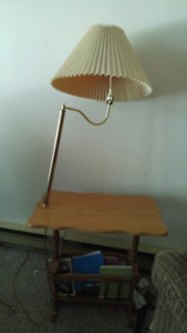 Colonial style lamp and book case
