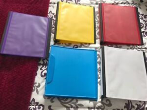 Five 1 1/2 Inch binders for sale