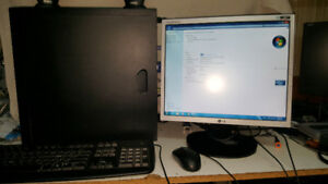 Desktop computer and monitor