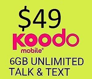 Koodo Cellphone Plans - $49/6GB Limited Offer -ONLY $50 Fee