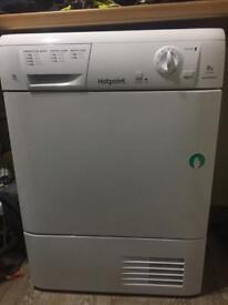 HOTPOINT Aquarius TCM580BP Condenser Tumble Dryer White - 6 months old- Moving Overseas