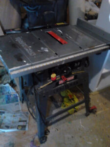 10in table saws 12in Band saw-sander etc