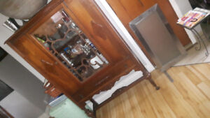 Antique Hutch and China Cabinet..