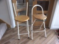 TWO breakfast bar stools, great condition!