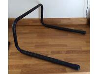 Wall mounted bicycle rack.