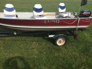 $5500 - 14' Lund wc with 15hp Mercury, new floor and seats.