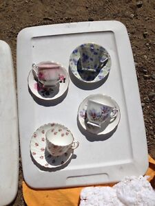 Teacups and saucers and sets  $15-50