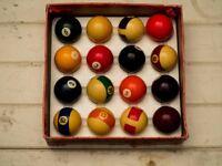 Aramith Vintage Boxed Belgian Pool Ball Set