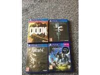 4 PlayStation Games For Sale - Brand New