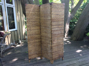 Tall Three Section Bamboo Partition
