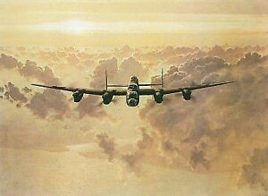 2 WWII LANCASTER BOMBER PRINTS BY GERALD COULSON $60.00