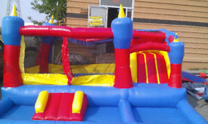 Used commercial Bouncy house, bounce castle, air blower