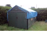 Solid sheeted large shed 16 x 9ft