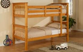 SUPER STYLISH WOODEN BUNK BED BRAND NEW // SAME DAY EXPRESS DELIVERY ALL OVER LONDON AND KENT