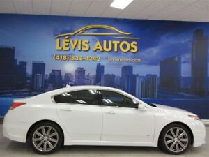 2014 Acura TL A-SPEC SH-AWD BLANC PERLE TOIT OUVRANT 77500 KM !