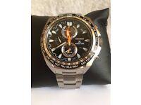 Seiko Prospex World Time Solar Mens Watch Steel Bracelet