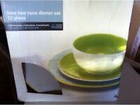 12pc Lime Dinner Set