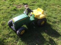 John Deere Childrens Pedal Tractor Kids Ride On Farm Toy