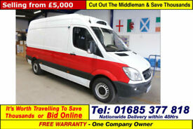 2010 - 60 - MERCEDES SPRINTER 313 2.2CDI MWB HI TOP INSULATED FRIDGE VAN