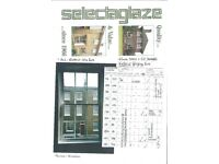 WINDOWS Eleven (11) Aluminium 22 Sashes ALL double Glazed 'Thermal' Windows